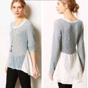 ANTHROPOLOGIE Clu + Willoughby XS Ruffle Sweater